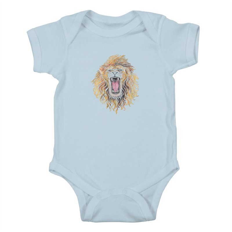 Swirly Lion Kids Baby Bodysuit by VectorInk's Artist Shop