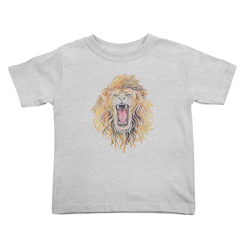 Swirly Lion Kids Toddler T-Shirt by VectorInk's Artist Shop