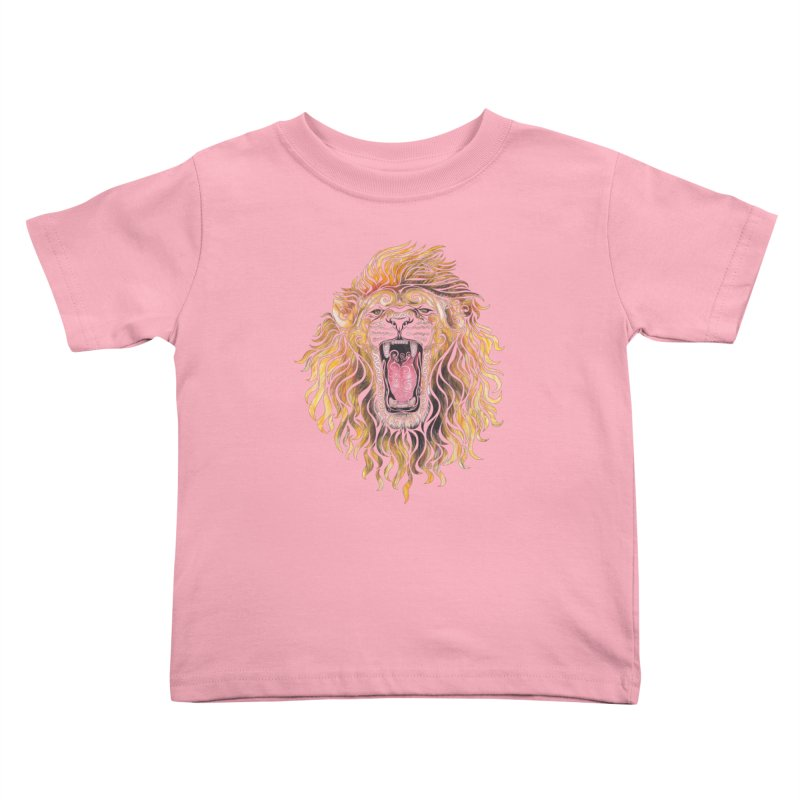 Swirly Lion Kids Toddler T-Shirt by VectorInk's Artist Shop