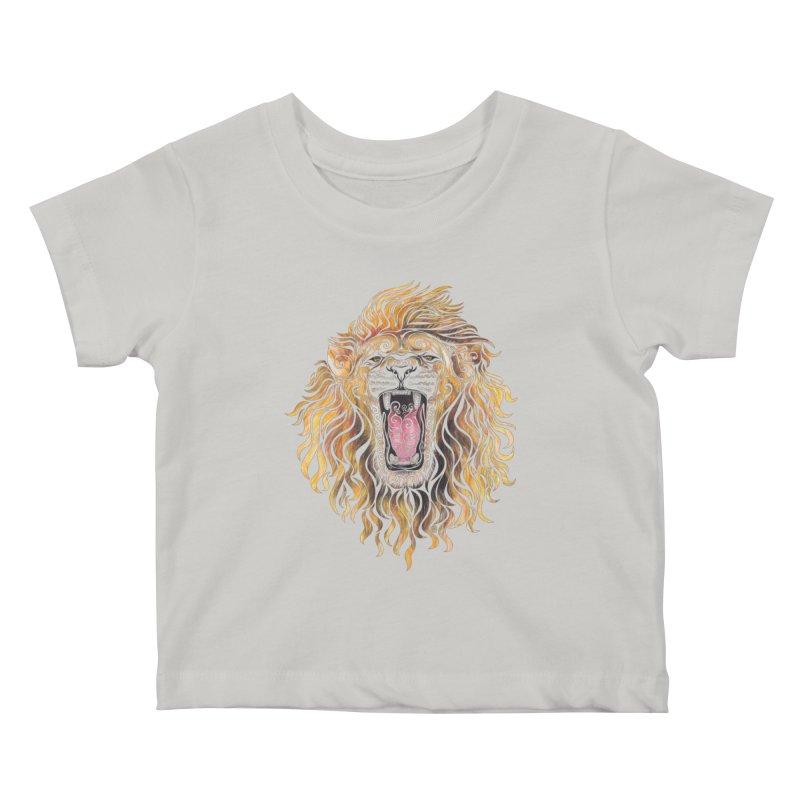 Swirly Lion Kids Baby T-Shirt by VectorInk's Artist Shop