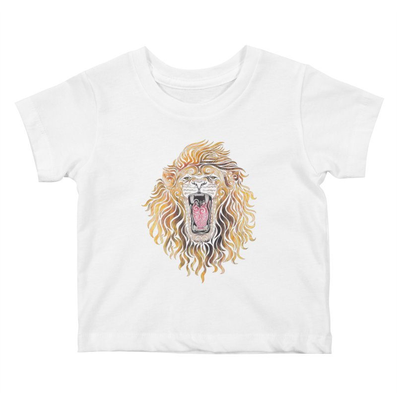 Swirly Lion Kids Baby T-Shirt by VectorInk's Artist Shop