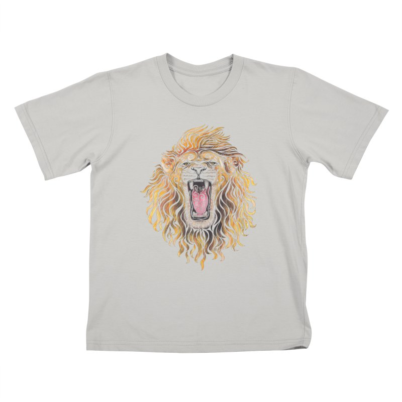 Swirly Lion Kids T-shirt by VectorInk's Artist Shop