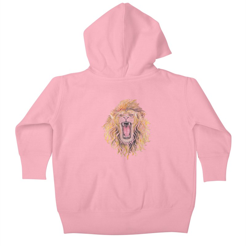 Swirly Lion Kids Baby Zip-Up Hoody by VectorInk's Artist Shop