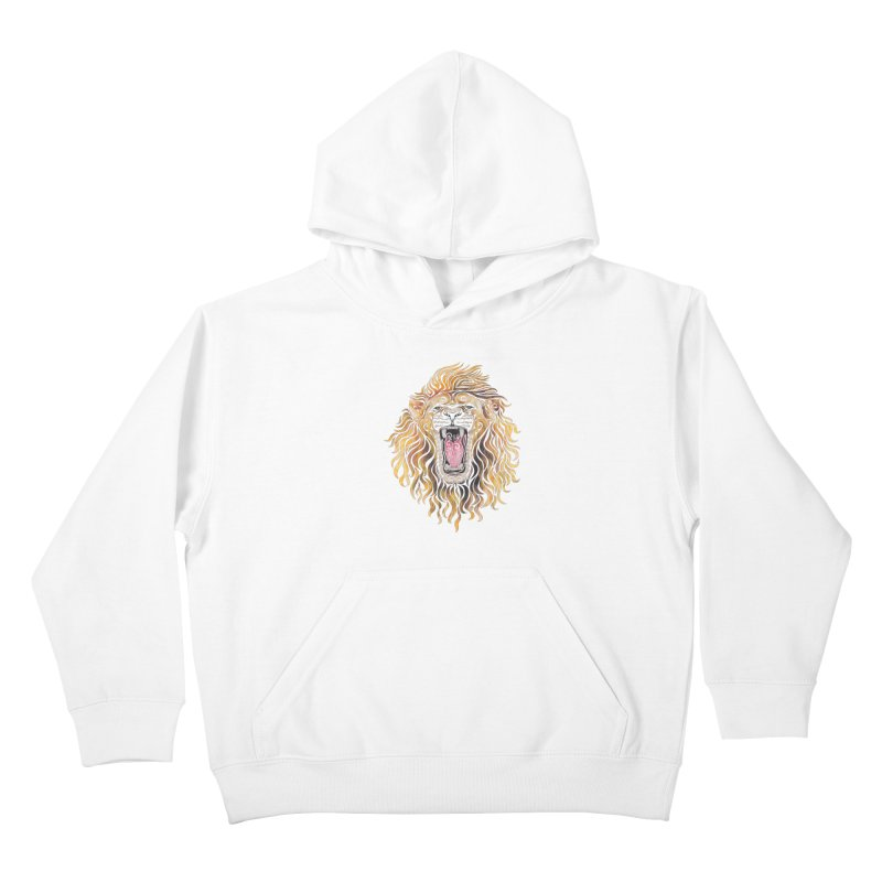 Swirly Lion Kids Pullover Hoody by VectorInk's Artist Shop