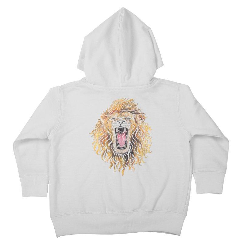 Swirly Lion Kids Toddler Zip-Up Hoody by VectorInk's Artist Shop