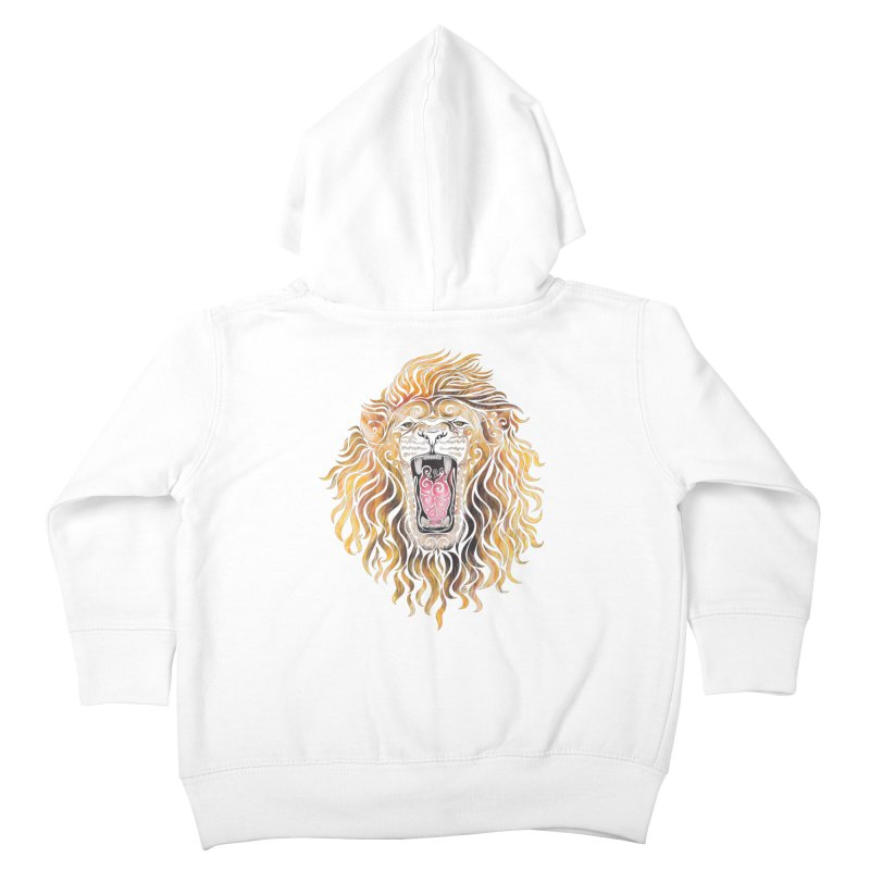Swirly Lion Kids Toddler Zip-Up Hoody by VectorInk's Artist Shop