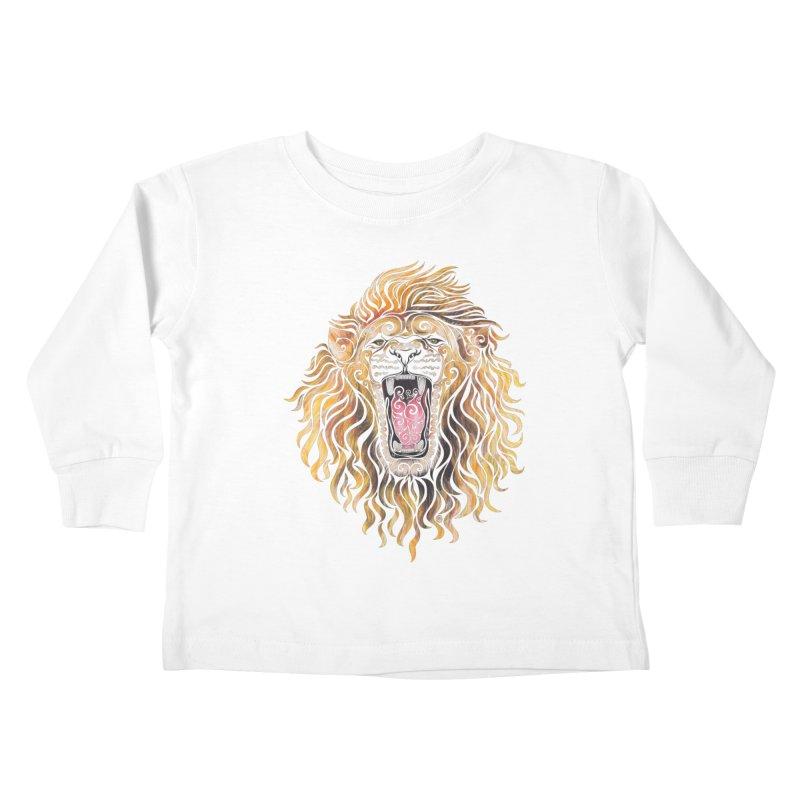 Swirly Lion Kids Toddler Longsleeve T-Shirt by VectorInk's Artist Shop