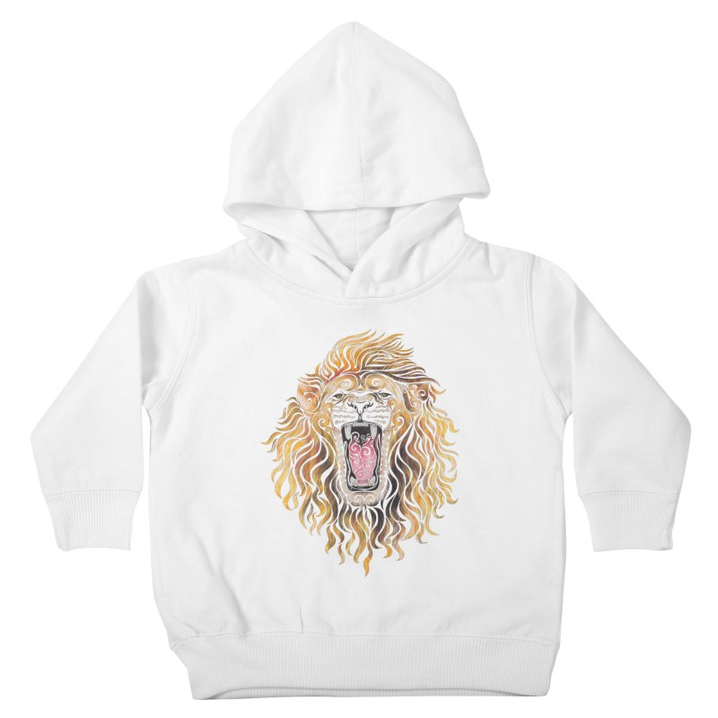 Swirly Lion Kids Toddler Pullover Hoody by VectorInk's Artist Shop