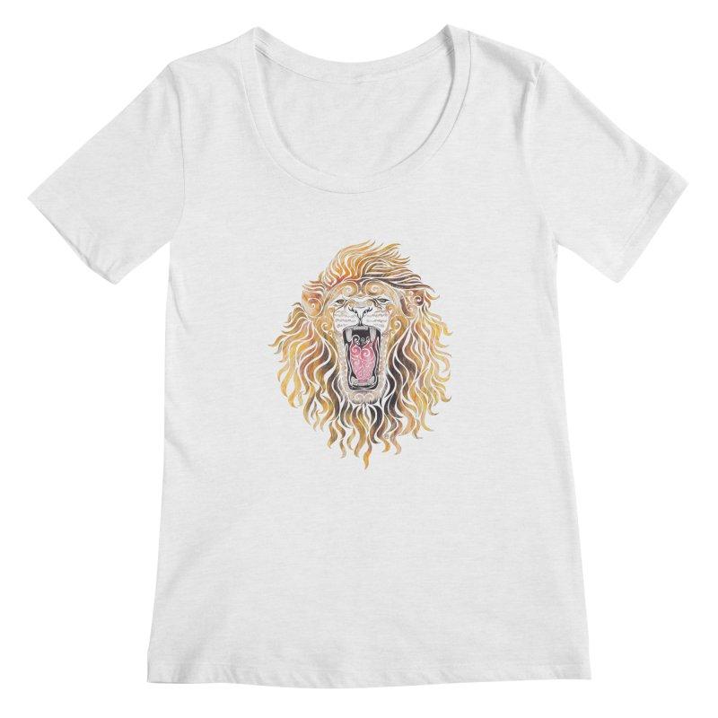 Swirly Lion Women's Scoopneck by VectorInk's Artist Shop