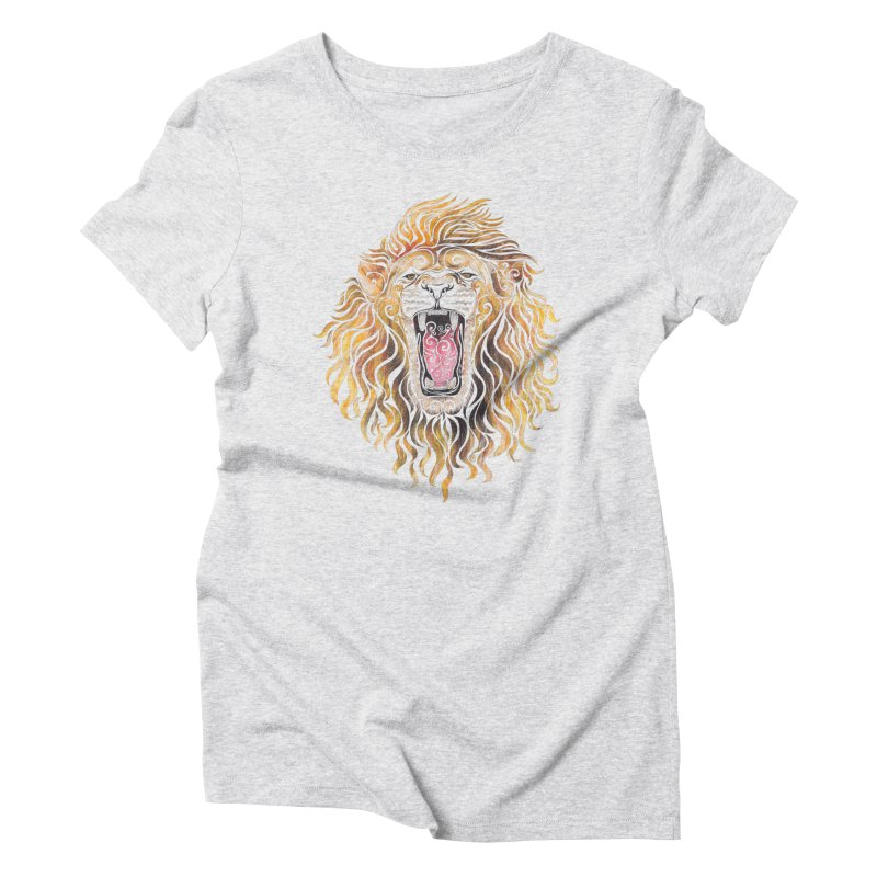Swirly Lion Women's Triblend T-Shirt by VectorInk's Artist Shop