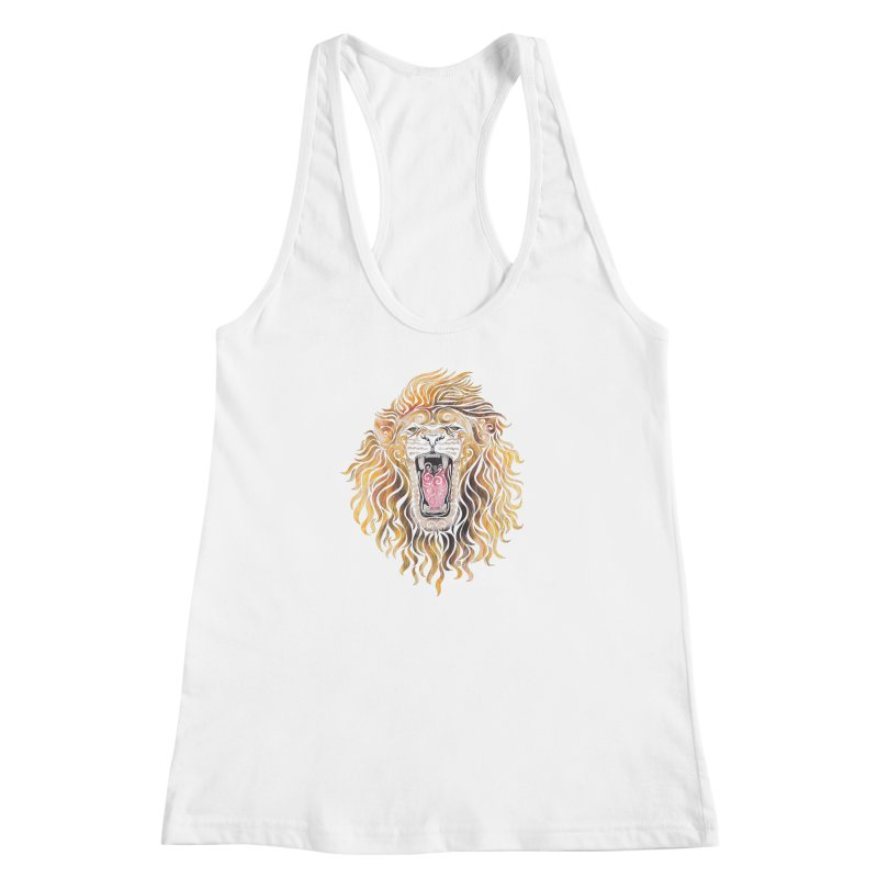 Swirly Lion Women's Racerback Tank by VectorInk's Artist Shop
