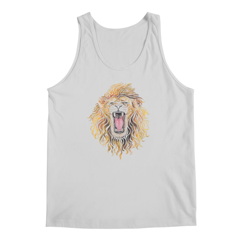 Swirly Lion Men's Tank by VectorInk's Artist Shop