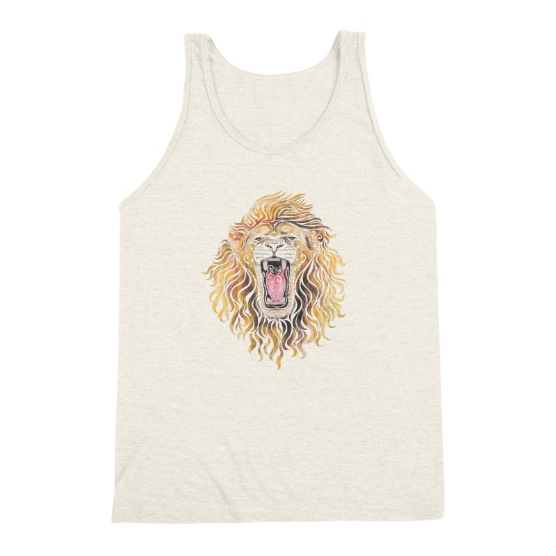 Swirly Lion Men's Triblend Tank by VectorInk's Artist Shop