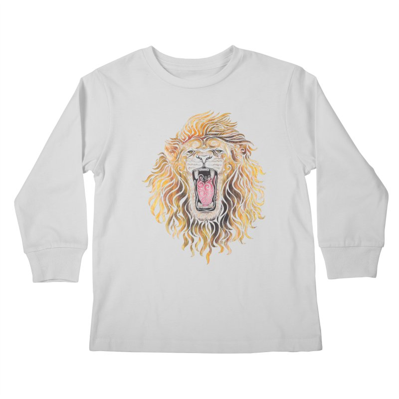 Swirly Lion Kids Longsleeve T-Shirt by VectorInk's Artist Shop