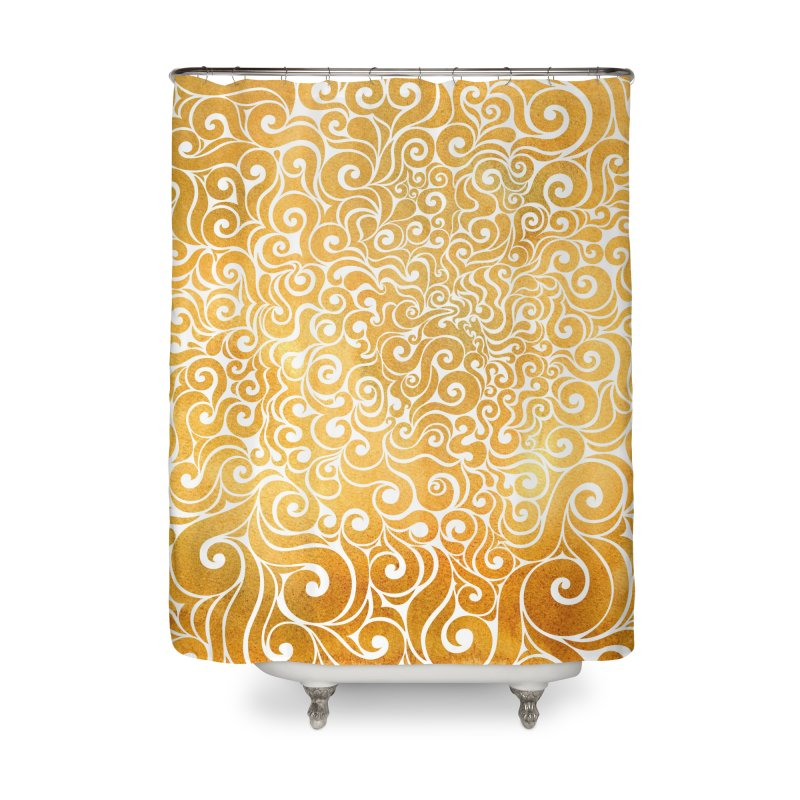 Swirly Lion Home Shower Curtain by VectorInk's Artist Shop
