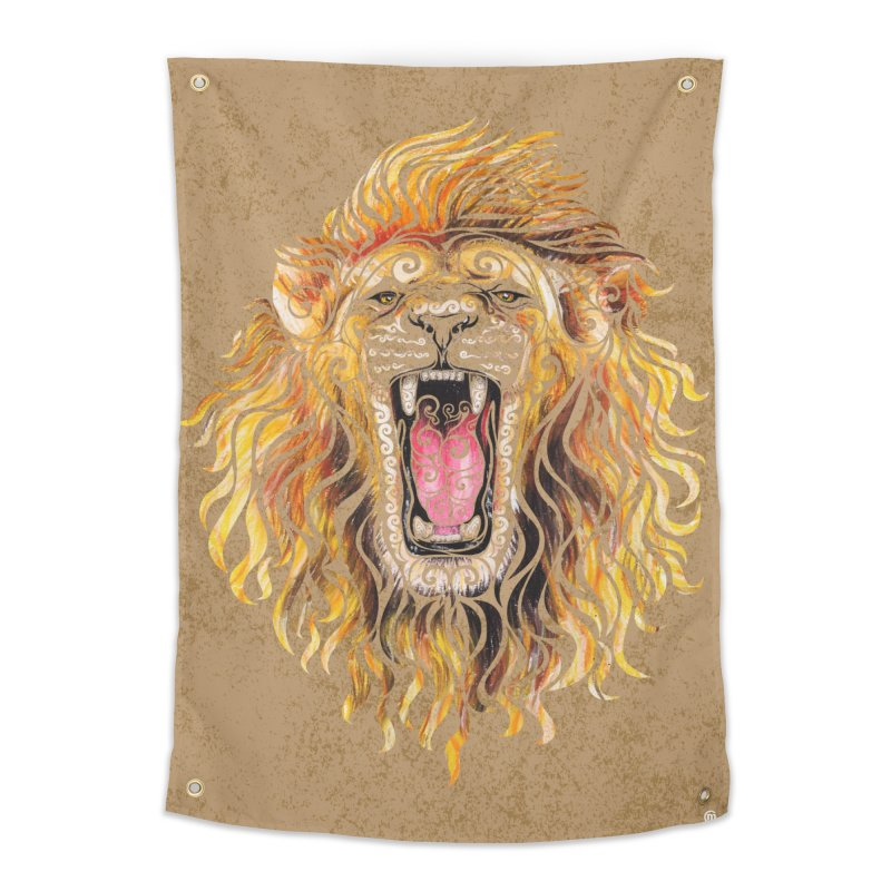 Swirly Lion Home Tapestry by VectorInk's Artist Shop