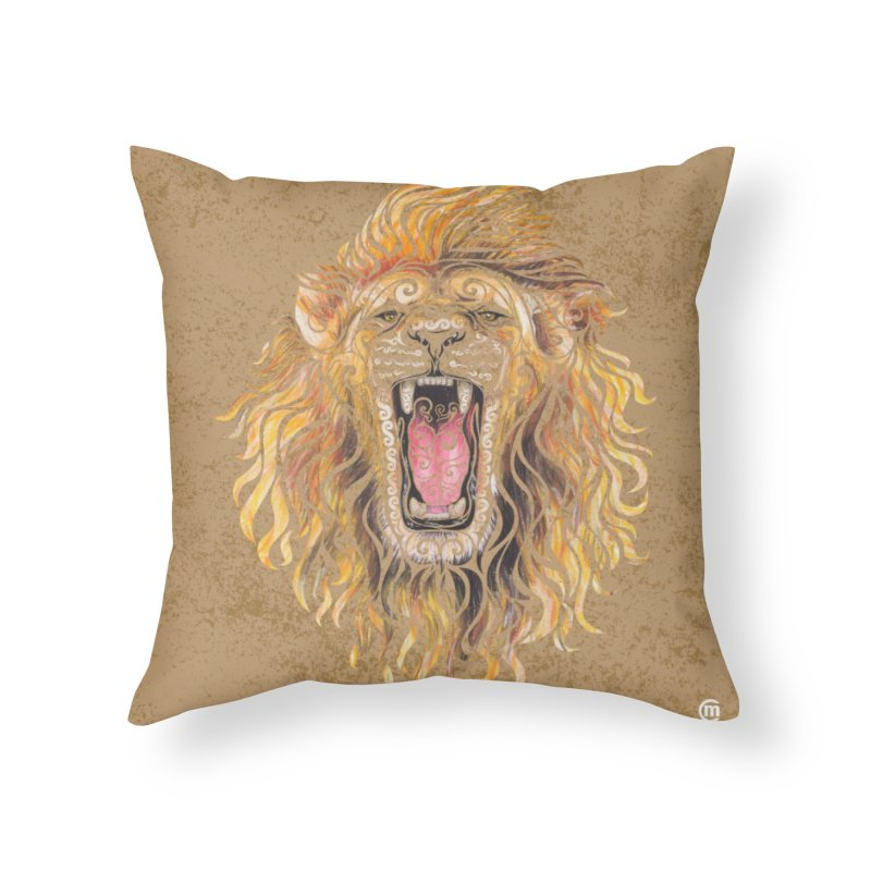 Swirly Lion Home Throw Pillow by VectorInk's Artist Shop