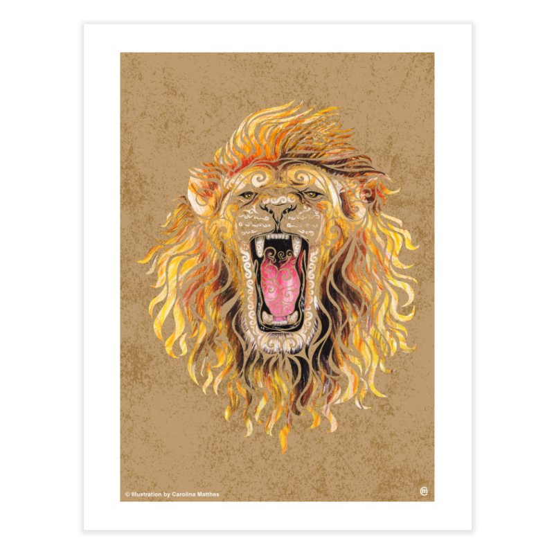 Swirly Lion Home Fine Art Print by VectorInk's Artist Shop