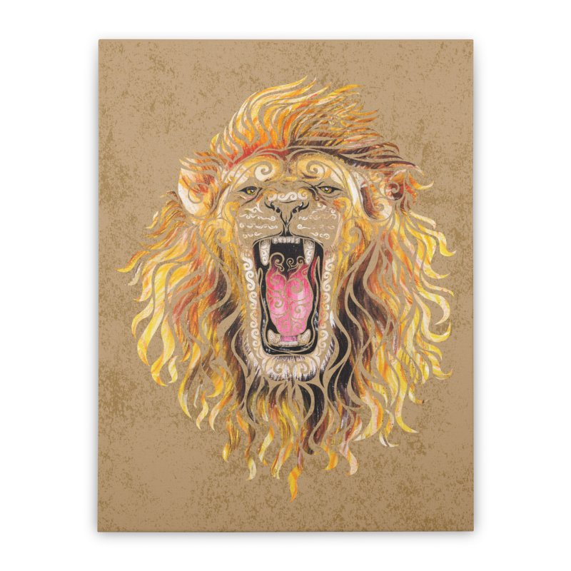 Swirly Lion Home Stretched Canvas by VectorInk's Artist Shop