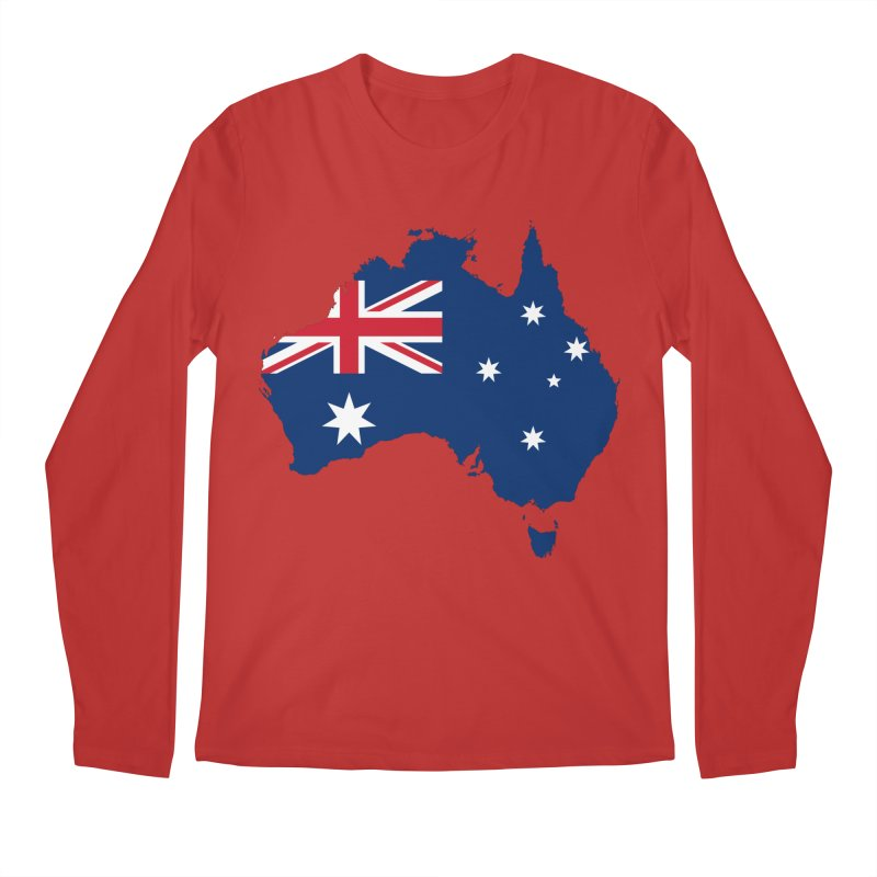 Australian Patriot Apparel & Accessories Men's Regular Longsleeve T-Shirt by Vectors NZ