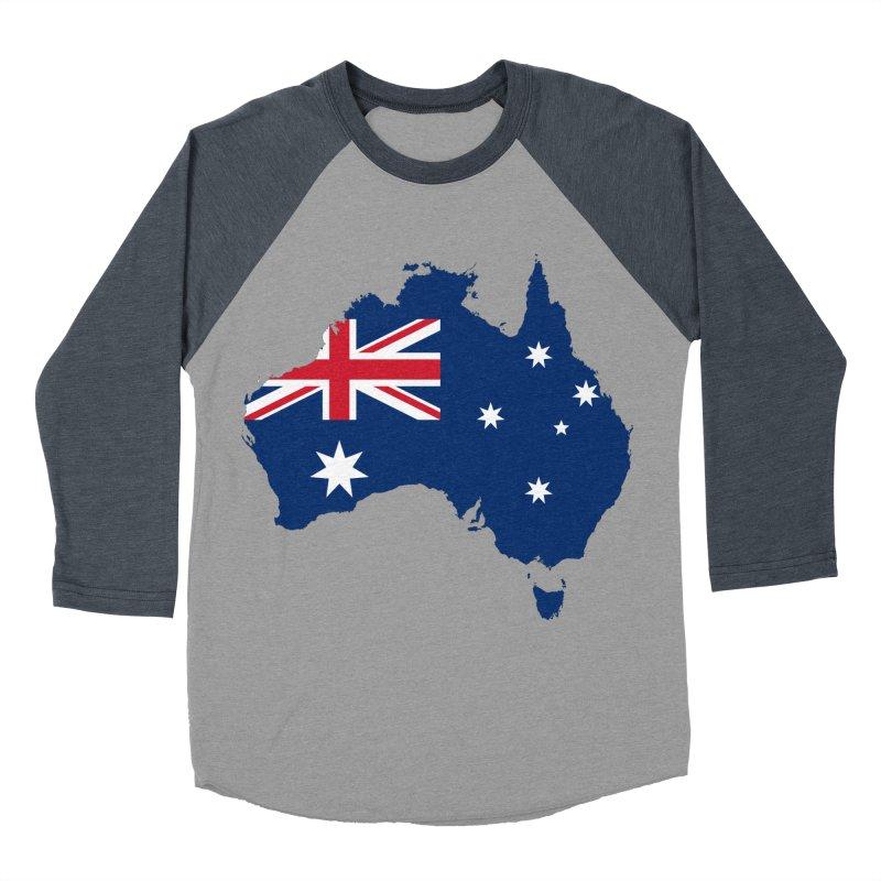 Australian Patriot Apparel & Accessories Women's Baseball Triblend Longsleeve T-Shirt by Vectors NZ