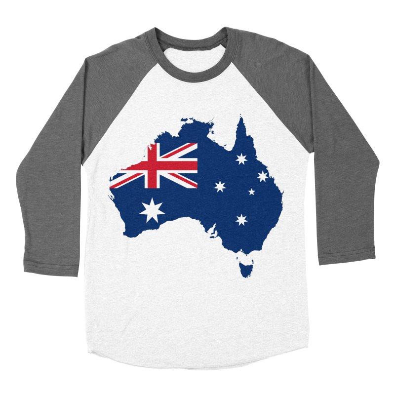 Australian Patriot Apparel & Accessories Men's Baseball Triblend Longsleeve T-Shirt by Vectors NZ