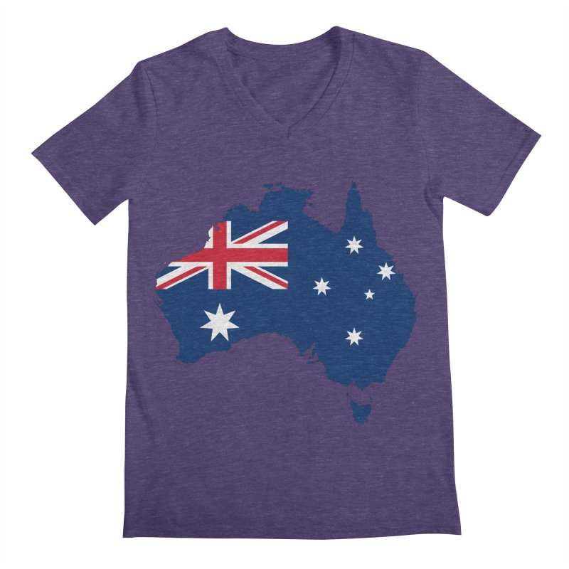 Australian Patriot Apparel & Accessories Men's Regular V-Neck by Vectors NZ