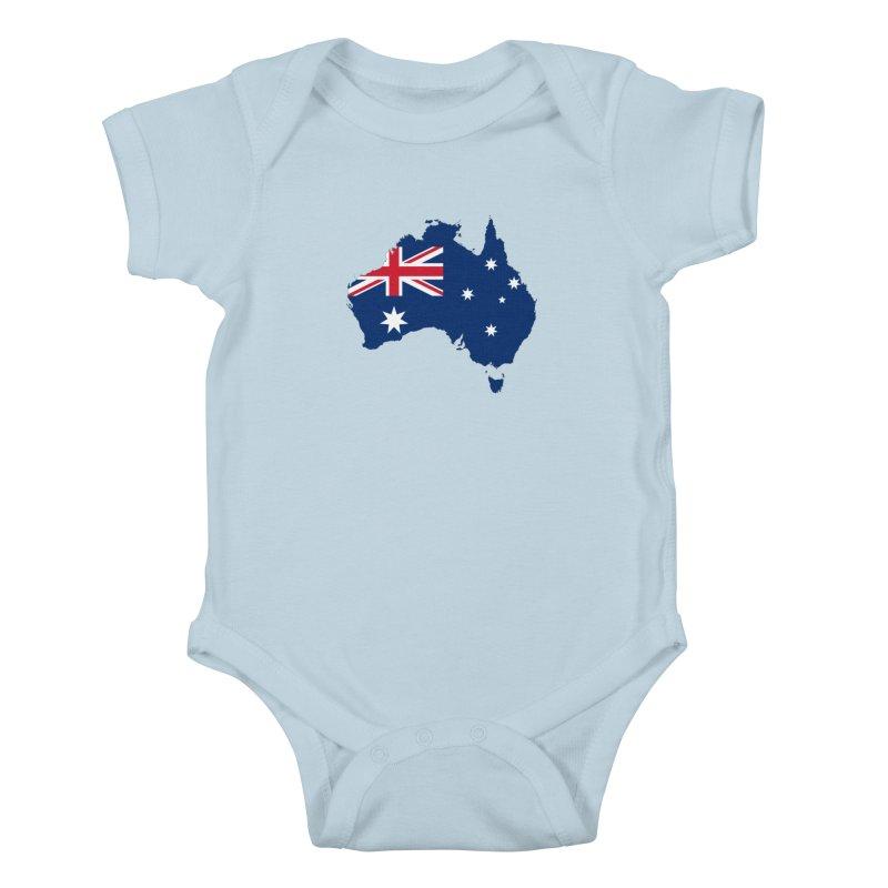 Australian Patriot Apparel & Accessories Kids Baby Bodysuit by Vectors NZ