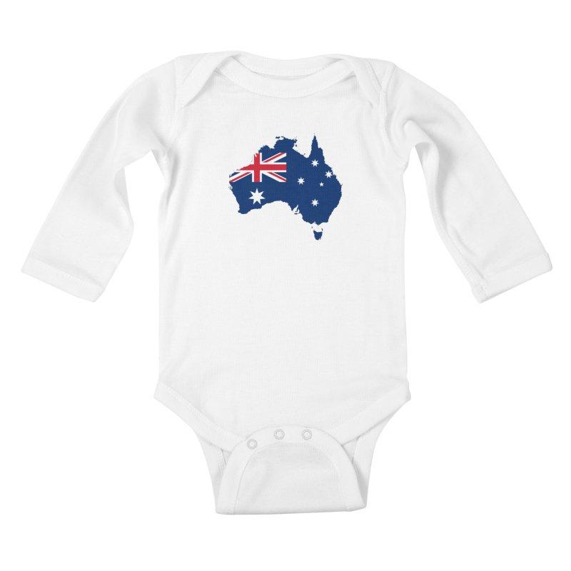 Australian Patriot Apparel & Accessories Kids Baby Longsleeve Bodysuit by Vectors NZ