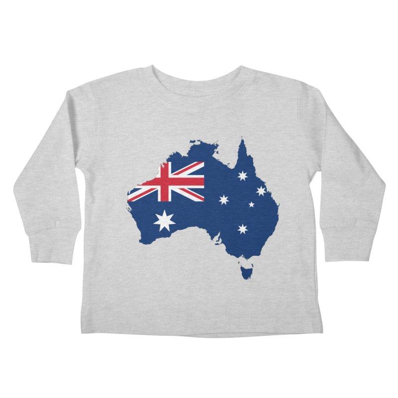 Australian Patriot Apparel & Accessories Kids Toddler Longsleeve T-Shirt by Vectors NZ