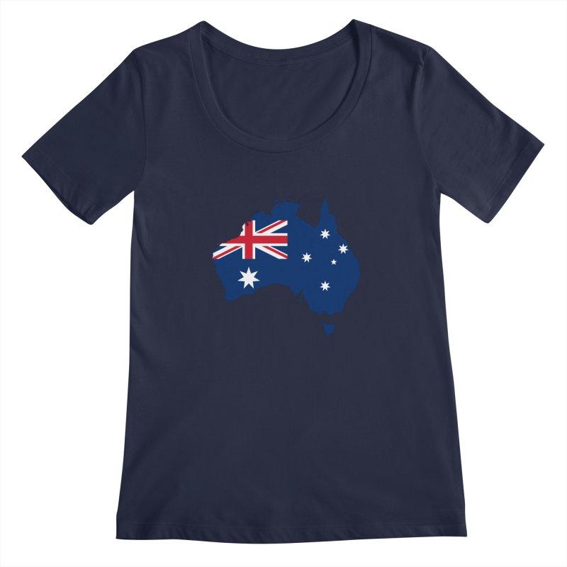 Australian Patriot Apparel & Accessories Women's Regular Scoop Neck by Vectors NZ