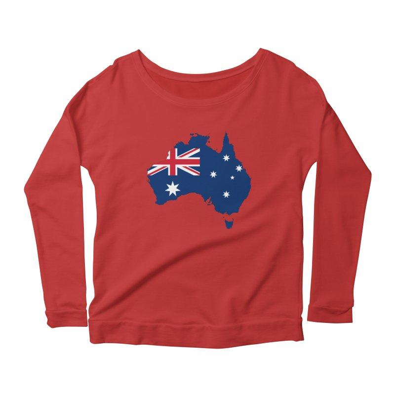 Australian Patriot Apparel & Accessories Women's Scoop Neck Longsleeve T-Shirt by Vectors NZ