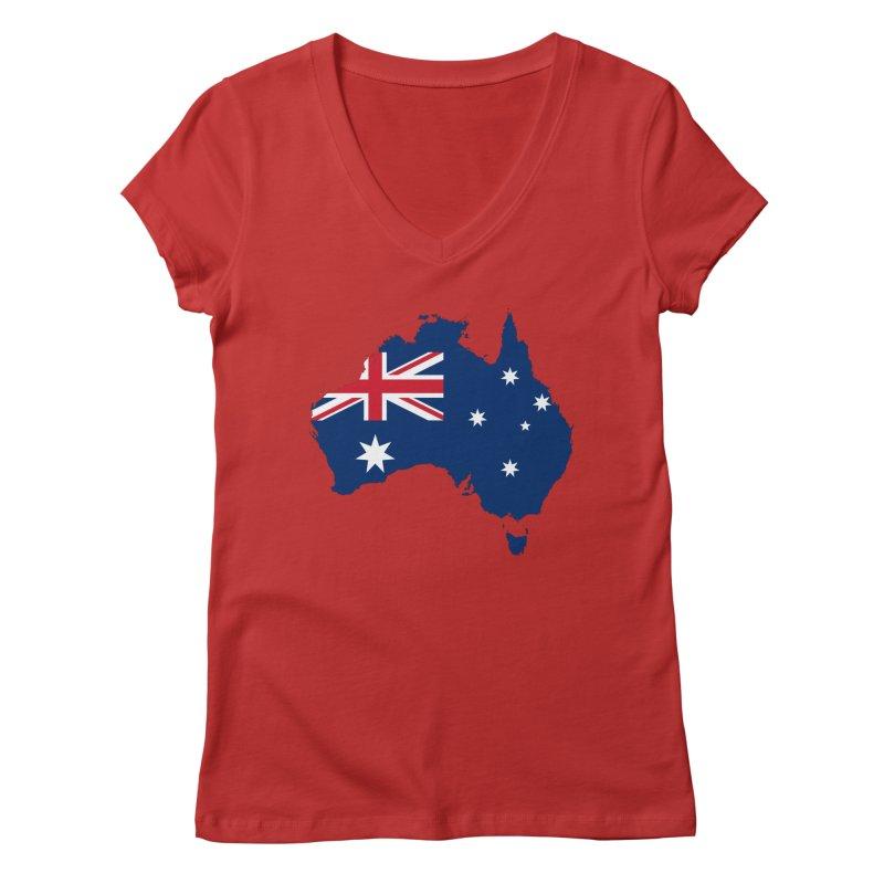 Australian Patriot Apparel & Accessories Women's Regular V-Neck by Vectors NZ