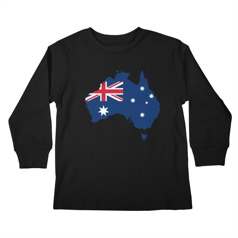 Australian Patriot Apparel & Accessories Kids Longsleeve T-Shirt by Vectors NZ