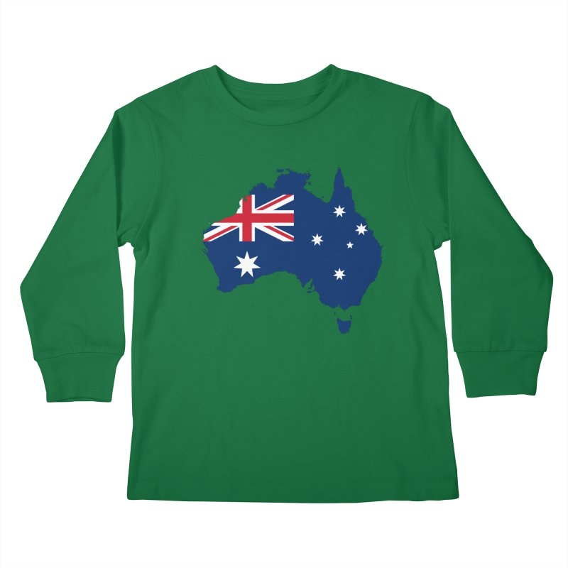 Australian Patriot Apparel & Accessories Kids Longsleeve T-Shirt by Vectors NZ