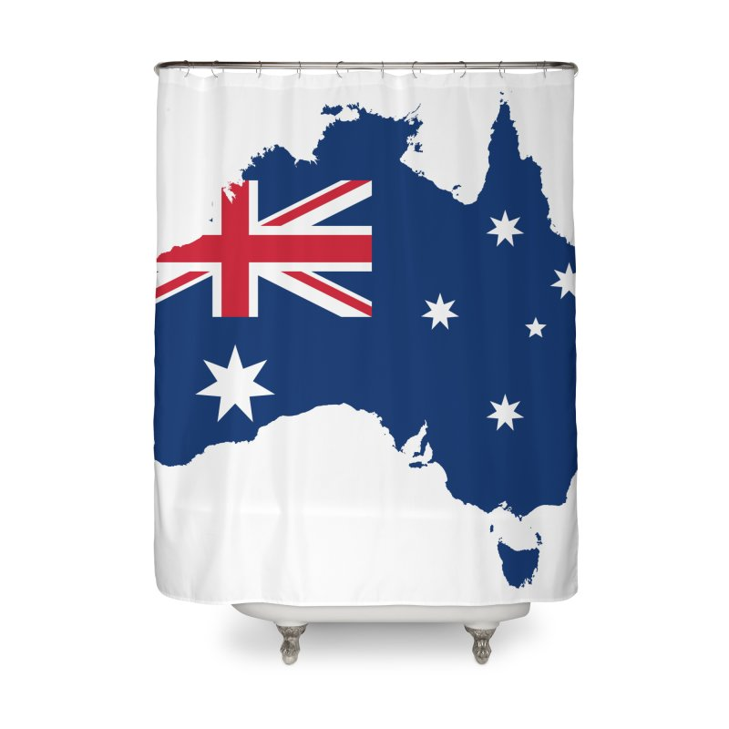 Australian Patriot Home Products Home Shower Curtain by Vectors NZ