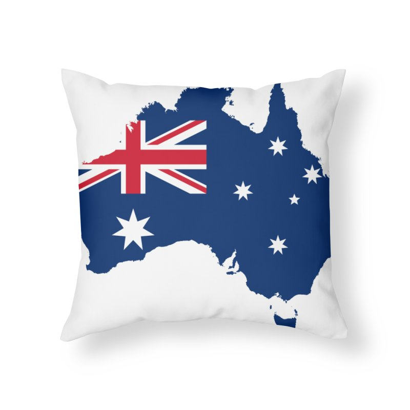 Australian Patriot Home Products Home Throw Pillow by Vectors NZ