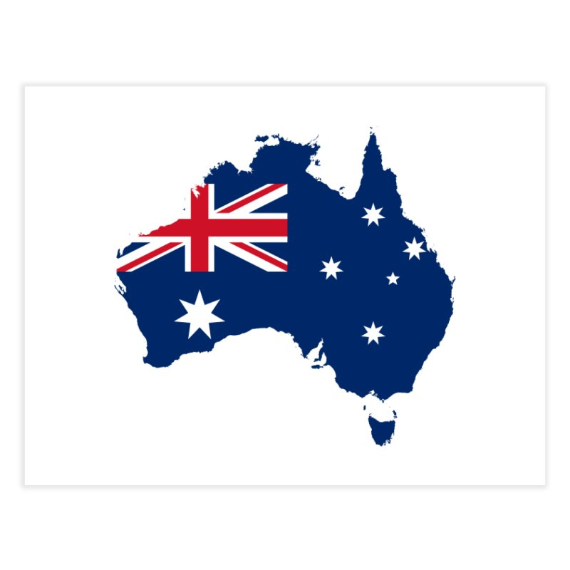 Australian Patriot Home Products Home Fine Art Print by Vectors NZ