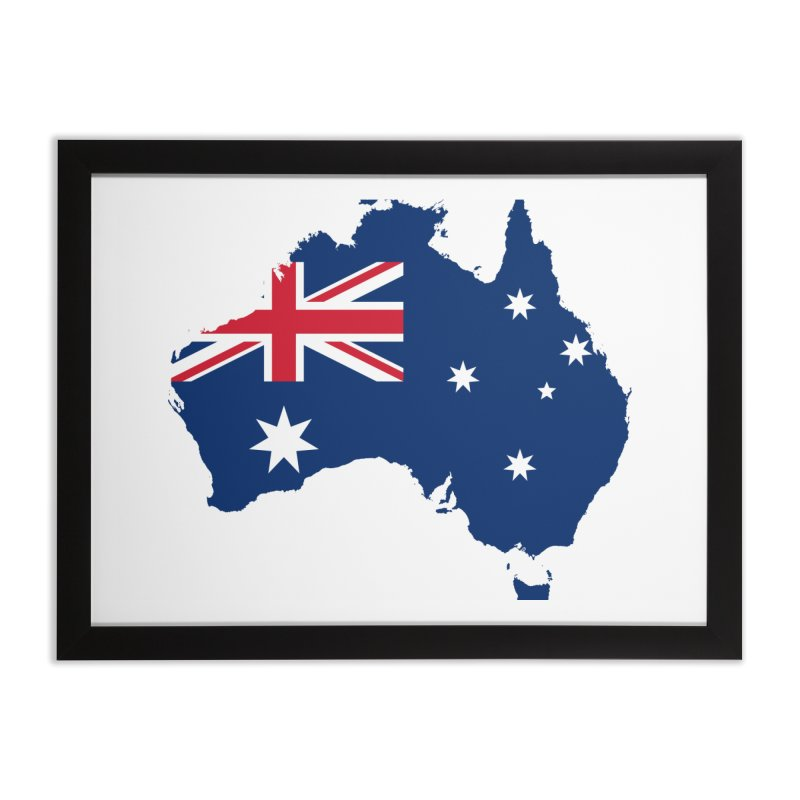 Australian Patriot Home Products Home Framed Fine Art Print by Vectors NZ