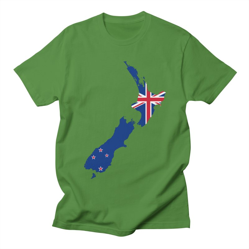 New Zealand Patriot Apparel & Accessories Men's Regular T-Shirt by Vectors NZ