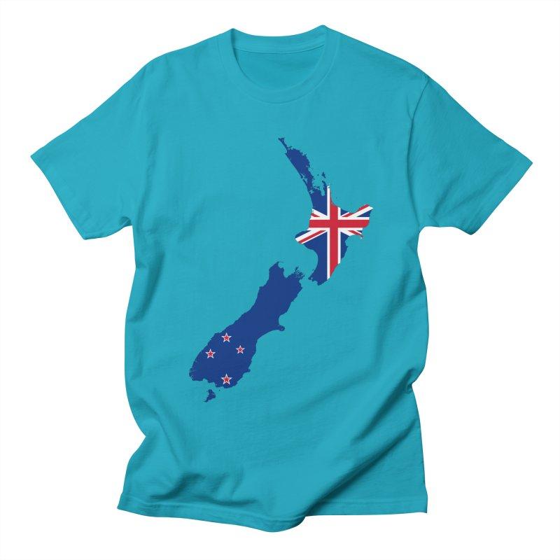 New Zealand Patriot Apparel & Accessories Men's Regular T-Shirt by Vectors NZ