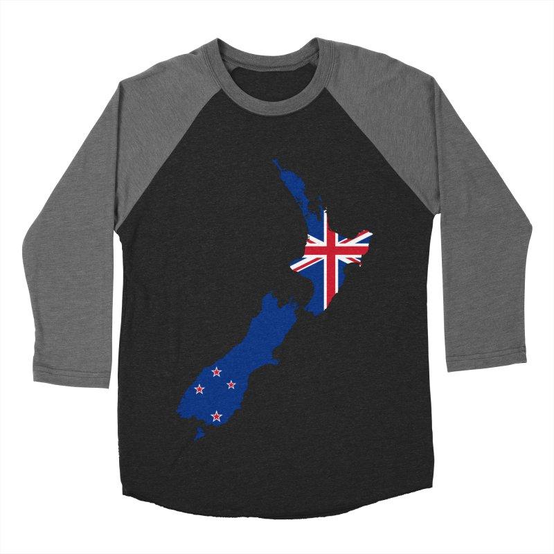 New Zealand Patriot Apparel & Accessories Women's Baseball Triblend Longsleeve T-Shirt by Vectors NZ