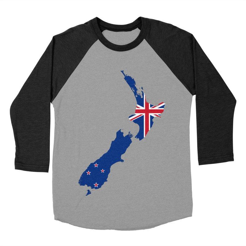 New Zealand Patriot Apparel & Accessories Men's Baseball Triblend Longsleeve T-Shirt by Vectors NZ