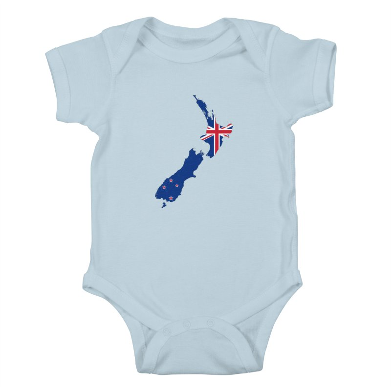 New Zealand Patriot Apparel & Accessories Kids Baby Bodysuit by Vectors NZ
