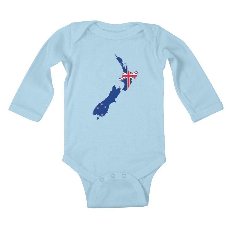 New Zealand Patriot Apparel & Accessories Kids Baby Longsleeve Bodysuit by Vectors NZ