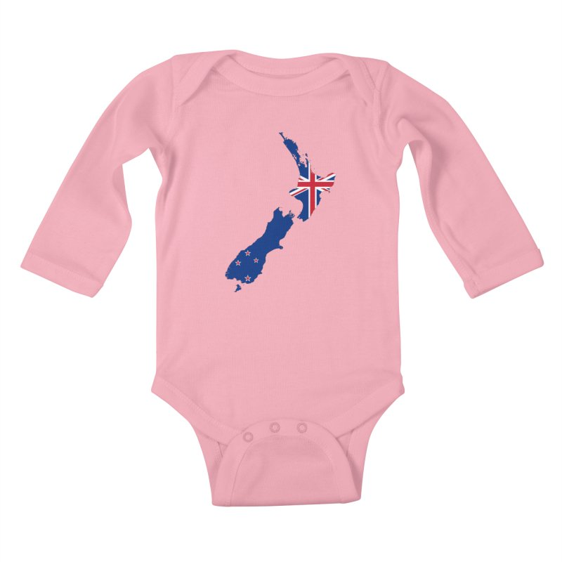 New Zealand Patriot Apparel & Accessories Kids Baby Longsleeve Bodysuit by Vectors NZ