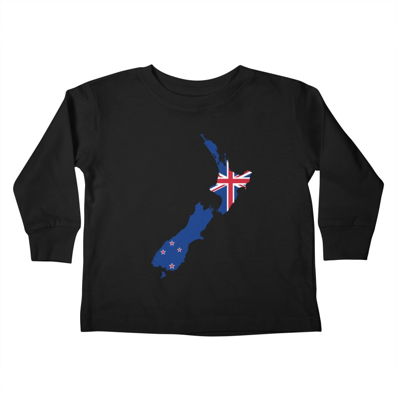 New Zealand Patriot Apparel & Accessories Kids Toddler Longsleeve T-Shirt by Vectors NZ