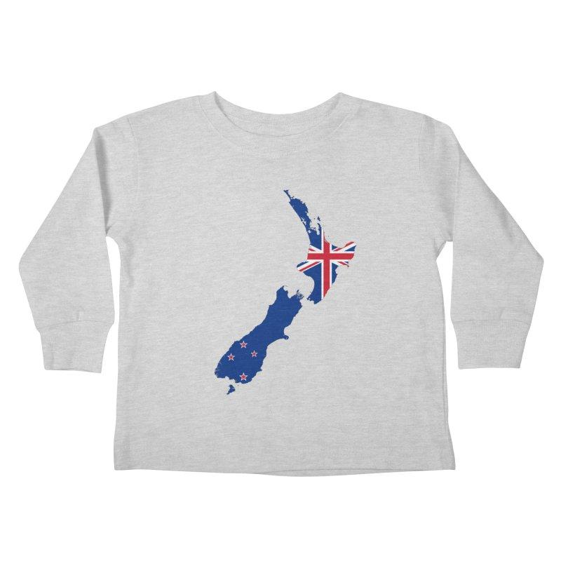 New Zealand Patriot Apparel & Accessories Kids Toddler Longsleeve T-Shirt by Vectors NZ