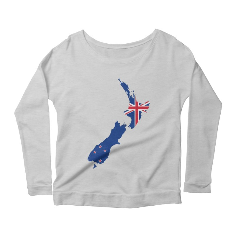 New Zealand Patriot Apparel & Accessories Women's Scoop Neck Longsleeve T-Shirt by Vectors NZ