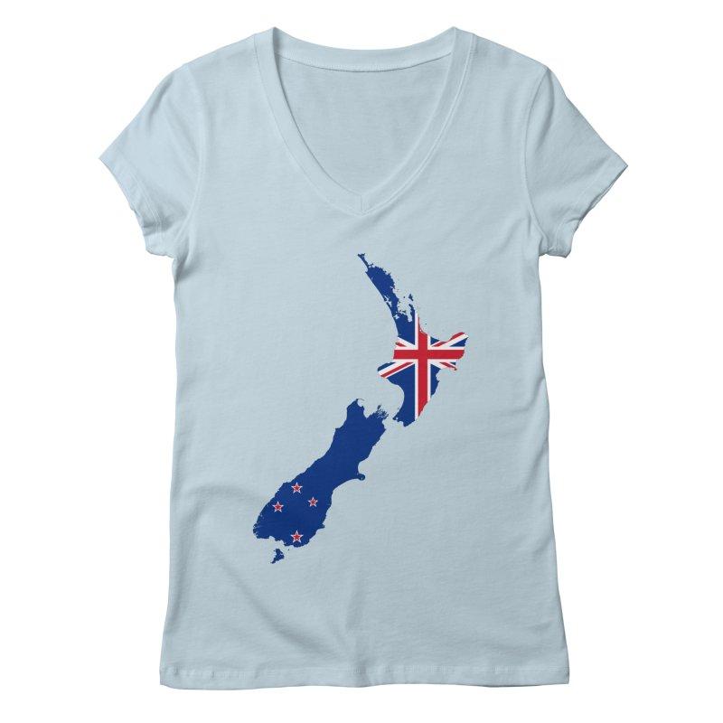 New Zealand Patriot Apparel & Accessories Women's Regular V-Neck by Vectors NZ